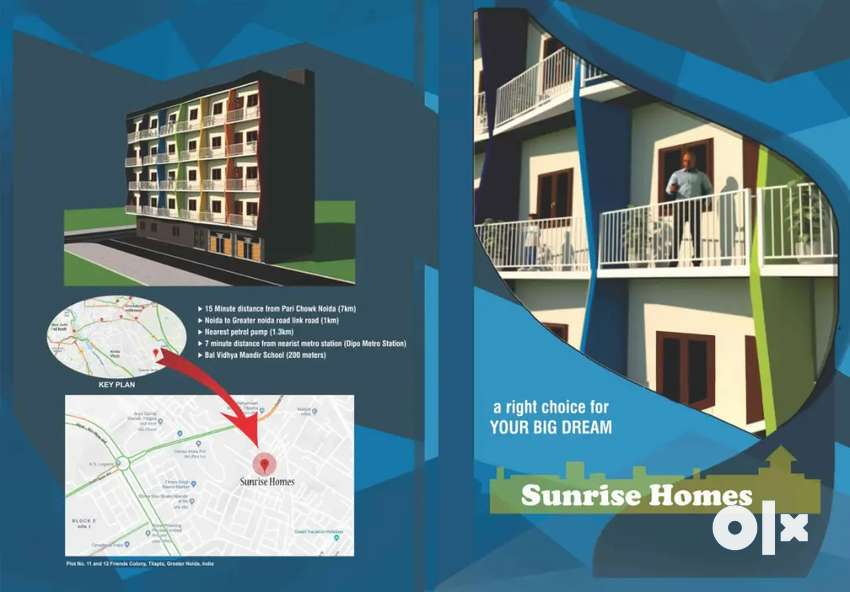 6.70 starting flat in Greater noida near by metro station 0