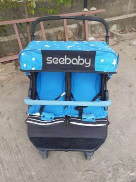 Stroller kembar merk seebaby