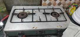 Gas stove with strong body