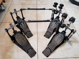 Double pedal drum gibraltar hardware