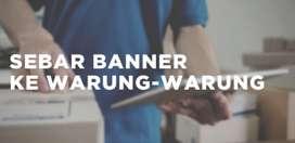 Dicari PEKERJA HARIAN YANG LANGSUNG SIAP JALAN untuk pemasangan banner