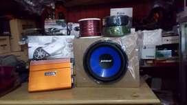 Paket: Power 4 Chnl+Subwoofeer 12 inchi+Box sub mdf+Tweter+Psang