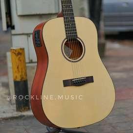 Gitar Akustik elektrik natural satin