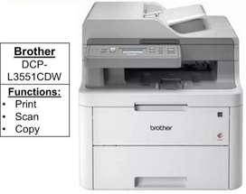 Brother 3 in 1 Color Laser Jet printer