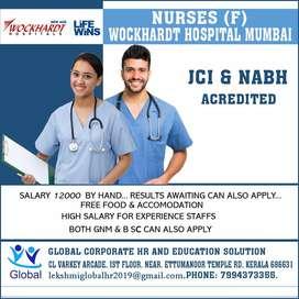 Hiring Now  Nurses      JCI, NABH acredited