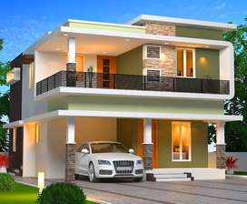 5cent Land-Independent 4BHK Villa For Sale in Ottapalam with 90% Loan