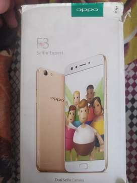 Oppo f3 in good condition with Bill and box