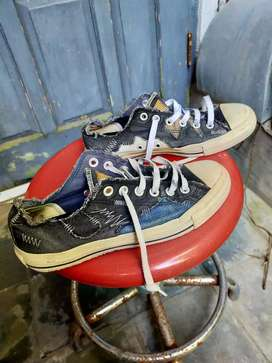 Sneakers Original Converse All Star Jeans Patchworks size 6