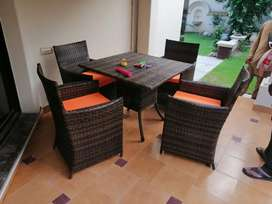 Rattan sofa chairs Set