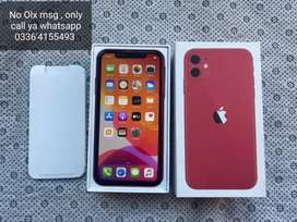 iPhone 11 64gb red clr complete box sell/exchange Xs ya X