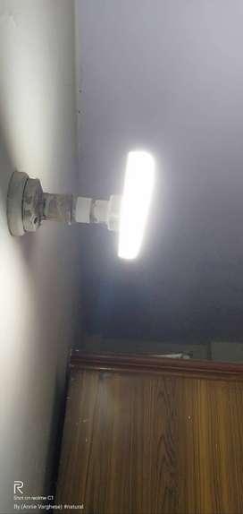 4 mini white led-tubelight(s) + 1 black colored stove