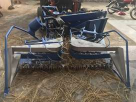 Front reaper binder machine for tractor