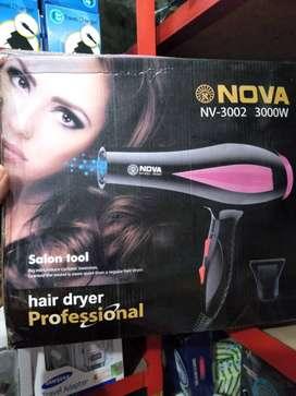 hairdryer hair dryer pengering rambut nova 3002 dua tingkatpanas