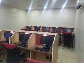 Call center seats co working day 3000/night-5000 west delhi near metro