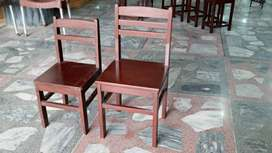 SOLID BEECH WOOD TABLET CHAIRS