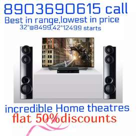 New smartAndroid 4k led tv@8499/-onwards ,50%flat offer home theater