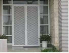 Kusen aluminium pintu jendela dan kaca