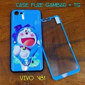 Case Fuze Gambar + TG Vivo Y81