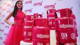 Isi ulang Gas LPG/Elpiji Bright Gas 5.5Kg