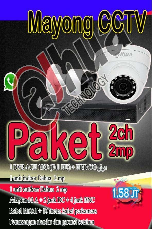CCTV Paket  2 kamera dahua 2 mp 0