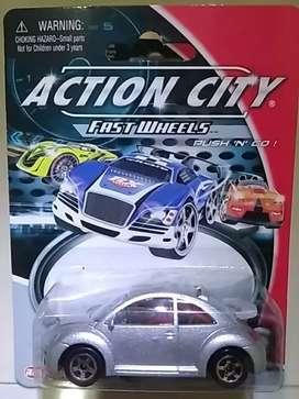 vw beetle action city series diecast 1 : 64