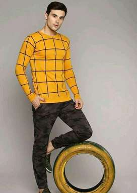 Trendy attractive men's  cotton t - shirt