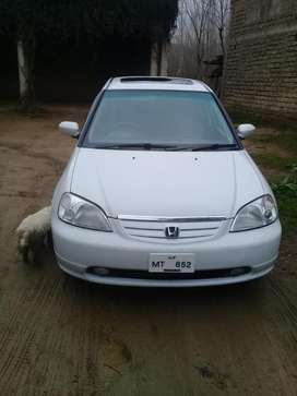 Honda civic white colour 2002 model