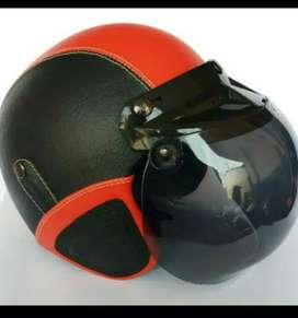 Helm bogo kulit asli