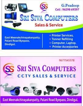 Computer laptop CCTV