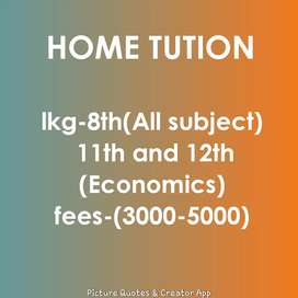 Home tutions/Tutor's home/online tution