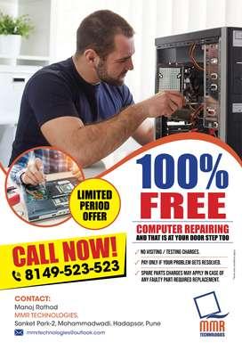 100% FREE Laptop Repairing At Your Door Step