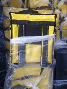 Insulated food delivery bag Yellow color
