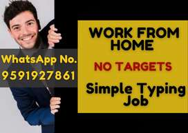 Home based part time work with no targets and time limits.