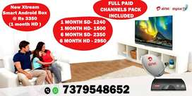 AIRTEL DTH CONNECTION STARTS Rs 1240-XSTREAM TATA SKY DISH D2H TATASKY