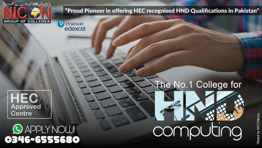 Nicon Group of Colleges OFFERS 20% on HND Computing. 0