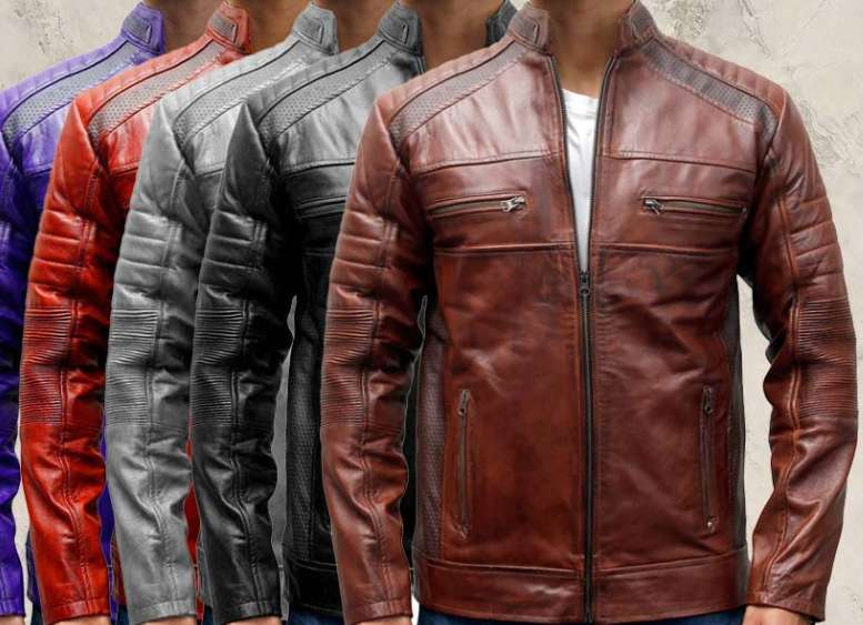 Men's Leather Jacket Slim Fit Two Button Blazer Lapel Coat Fall Casual 0