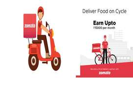 Food delivery with full or part time and weekends.