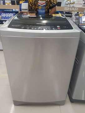 Kredit mesin cuci sharp top loading 14Kg proses 3menit