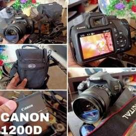 Jual kamera Canon 1200 D mulus ( nego santai)