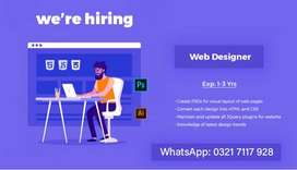 We are hiring Website & Graphic Designer