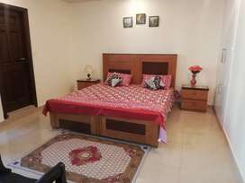 E 11 Two bed full furnished available for just family residence