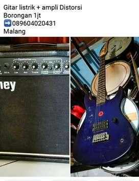 Gitar listrik + ampli distorsi