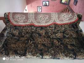 Velvet cover sofa