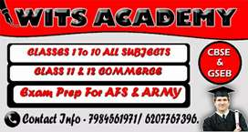 Tution for 1 to 10 class (All subjects )+11 and 12 commerce