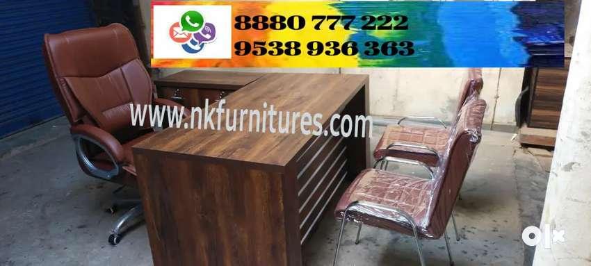 L shape office Table Full set