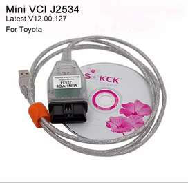 Mini vci cable for toyota , j2534 cable