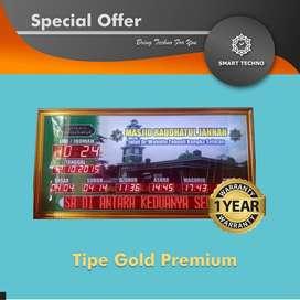Best Price Jam Digital Masjid Tipe Gold Premium Elegan _abs_