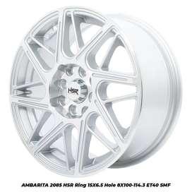 Velg Mobil HSR AMBARITA Ring 15 Warna Silver Polish