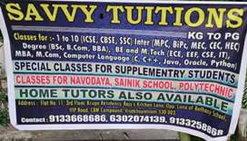 SAVVY Tuitions (Home Tutors also available)