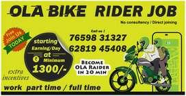 ola bike rider in hyderabad